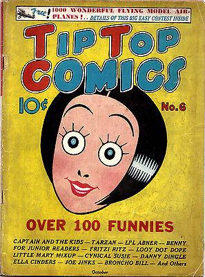 TIP TOP COMICS #6 (United Features) Classic Ella Cinders cover ..RARE Oct 1936!