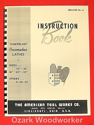 American Tool Works 14-16-18-20-22 Metal Lathe Instructions Manual 0008