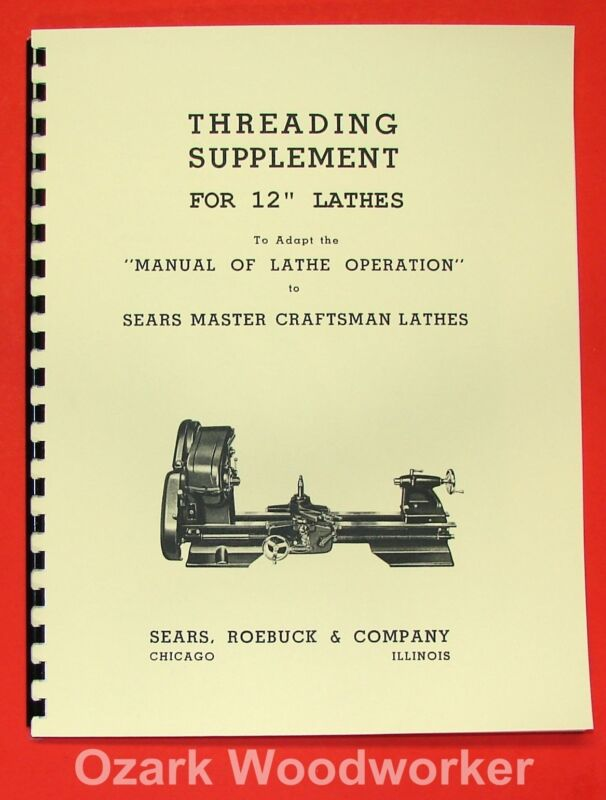 "ATLAS/CRAFTSMAN 12"" Older Metal Lathe Threading Operations Manual 0046"