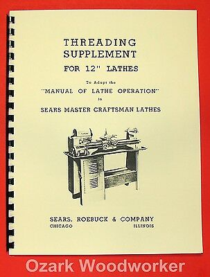 "ATLAS/CRAFTSMAN 12"" New Metal Lathe Threading Operation Manual 0053"