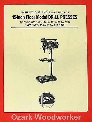 Atlas 15 Drill Press Instruction And Parts Manual 0021