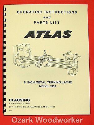 "ATLAS-CRAFTSMAN 6"" Metal Lathe Model 3950, 10100, 101.21200 Parts Manual 0055"