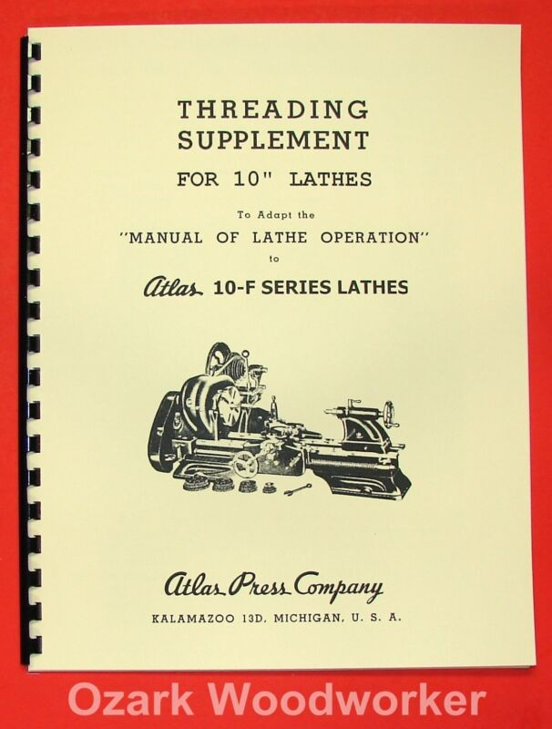 ATLAS/CRAFTSMAN 10-F Metal Lathe Threading Operations Manual 0020