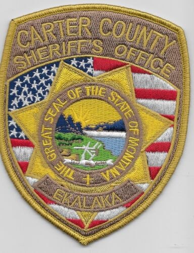 Carter County Sheriff State Montana MT Colorful