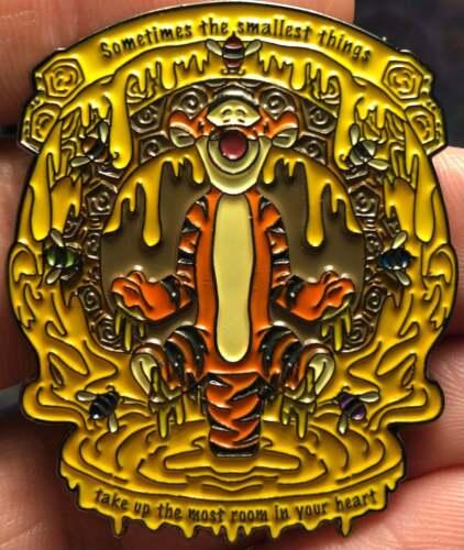 Winnie the Pooh Tigger Metal Hat SMALLEST THINGS MEAN BIG LOVE PIN enamel Pin