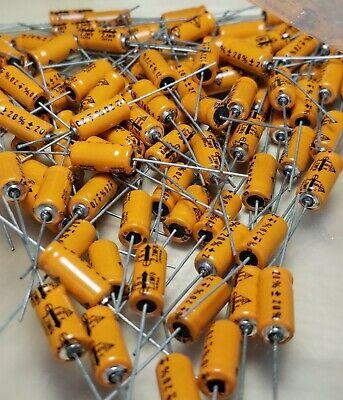 Lot Of 100 2.2uf 16vdc 20 Aluminum Electrolytic Capacitors Axial