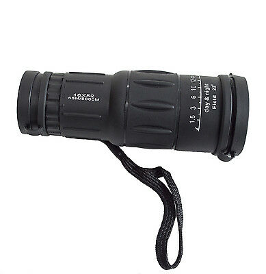 16x52 monocular. Bird watching, wildlife and nature viewing. Waterproof