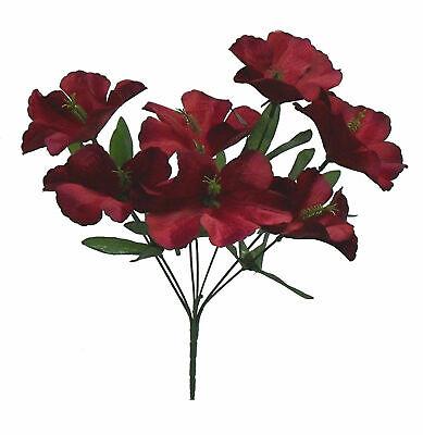 Hibiscus Wedding - 5 Hibiscus MANY COLORS Wedding Centerpieces Bridal Bouquet Silk Flowers Bush