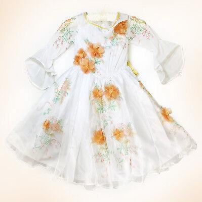 Disney Store Princess Belle Deluxe Celebration Dress Costume Girls Ball Gown