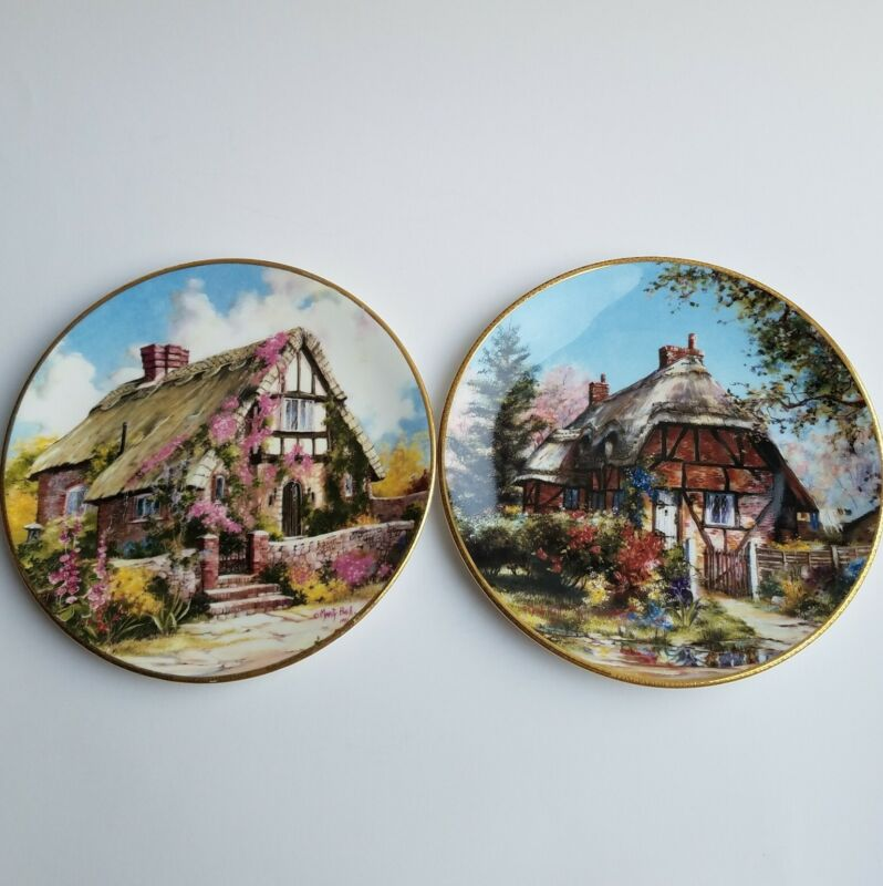 Marty Bell Collectr Plates Wepham Cottage Longparish Cottage In A Cottage Garden