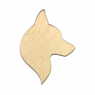 Huskey Dog (Siberian Huskey Dog Unfinished Wood Shape Cut Out H11196 Lindahl)