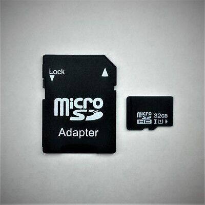 32GB microSD SDHC class 10 Speicherkarte+SD Adapter+Schutzhülle 32GB microSDHC ()