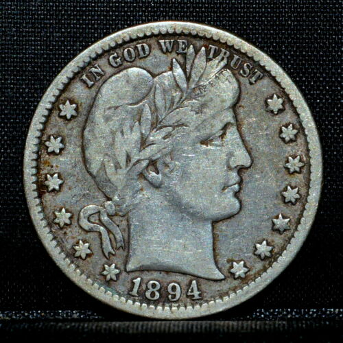 1894-O BARBER QUARTER ✪ VF VERY FINE ✪ 25C SILVER SCARCE COIN L@@K NOW ◢TRUSTED◣