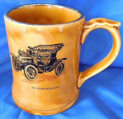 Wade MOKO tankard Veteran Car de Dion Bouton 1904 vintage pottery pint mug for sale  Shipping to Ireland