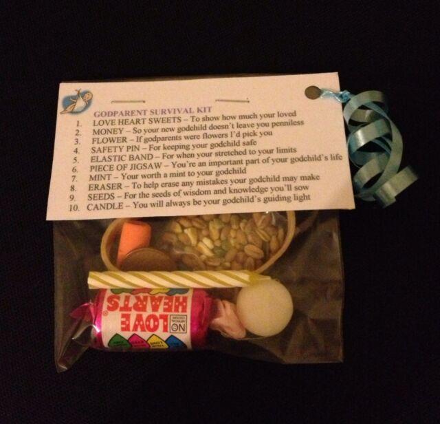 Godparent Survival Kit - Gift For Godmother Godfather Christening Baptism