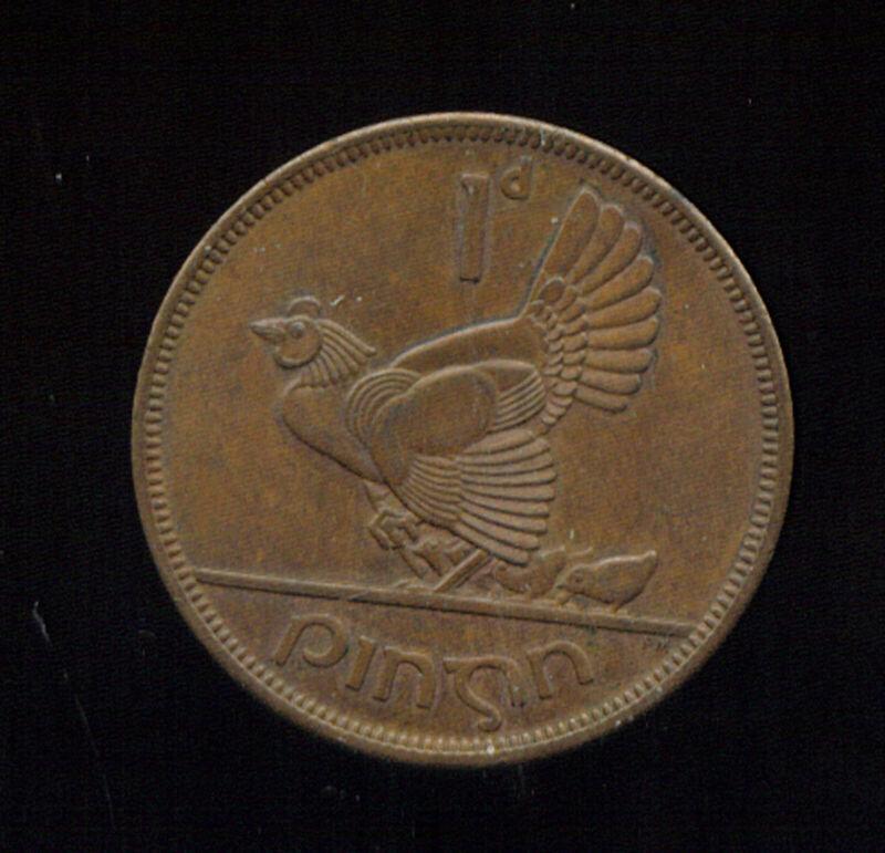 WORLD COINS IRELAND 1964 LARGE PENNY CH AU (3G664)