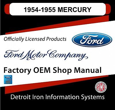 1954-1955 Mercury Monterey Sun Valley Custom Shop Manuals & Parts Books CD