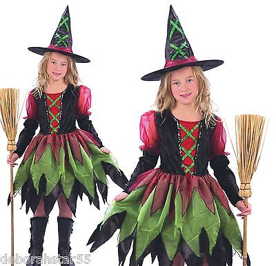 Girls Childs Cute Fairy Witch Halloween Fancy Dress Costume All Ages 4-12 years ()