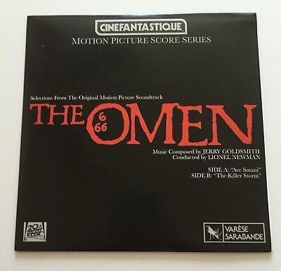 "The Omen Cinefantastique Motion Picture Score 7"" 45 RPM Record  Horror Block"