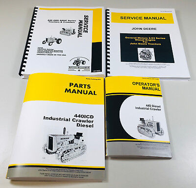 Service Parts Operators Manual John Deere 440 440c 440icd Diesel Crawler