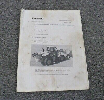 Kawasaki 90zv-2 Wheel Loader Diagnostic Troubleshooting Owner Operator Manual