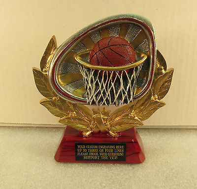 - Basketball Award Trophy Rosewood Base FREE Engraving Shipped 2 Day Mail Gift Box