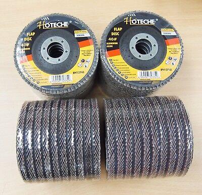 Lot Of 40 Aluminum Oxide Flap Disc Grinding Wheel 4-12x78 40 Grit
