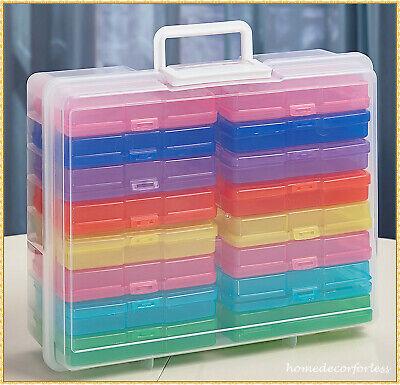 COLORFUL PHOTO STORAGE BOX 1600 PHOTO ORGANIZER CASE CRAFT KEEPER ACID-FREE 4X6 Acid Free Photo Storage Boxes