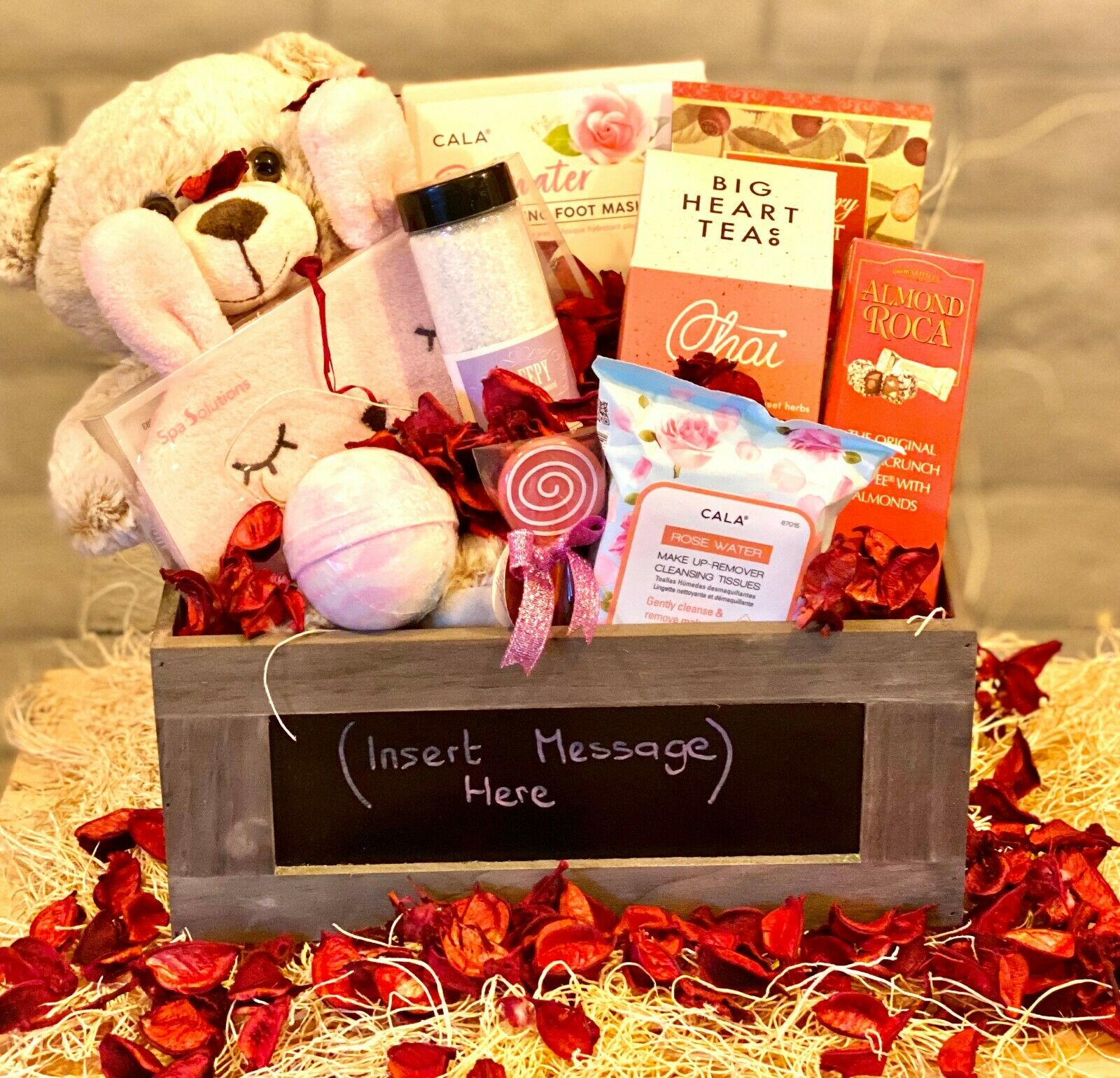 Gift Basket Personalized Valentines Day Mothers Day Christma