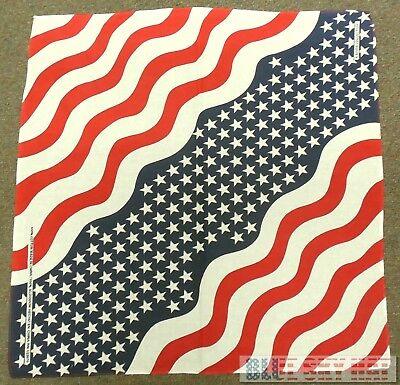 BANDANA USA FLAG STARS AND STRIPES AMERICAN AMERICA DOO RAG DOORAG HEAD WRAP - Bandana And Hat