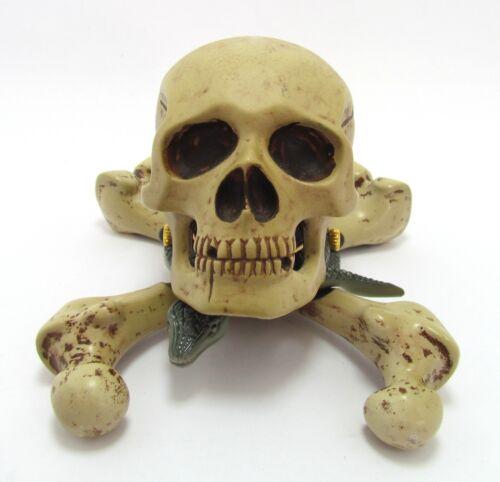 Corum Skull Desktop Clock Enamel in Original Case - NWOT