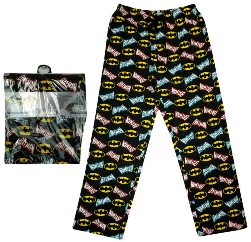 - Men's Batman Pyjamas - Made from % cotton jersey - Crew neck, short sleeve t-shirt and full length pyjama bottoms - Elasticated waist - Please check our size guide for your ideal fit - % official Batman .
