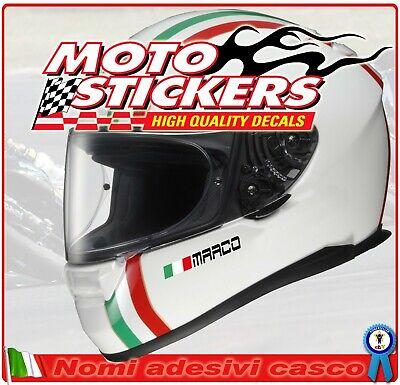 4 Nombres Adhesivos Casco + Bandera - para de la Barbilla Moto...