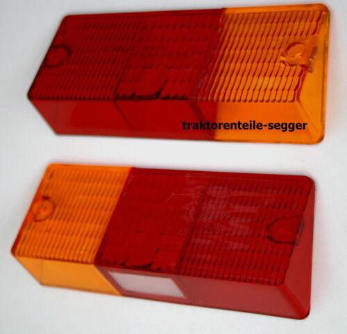 2 Lichtscheiben für Rückleuchten Deutz 06 Serie 1 x  mit Kennzeichenbeleuchtung  Foto 1