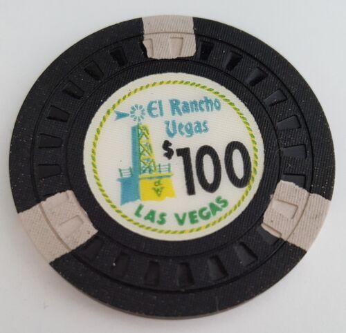 $100 Las Vegas El Rancho Casino Chip - Near Mint