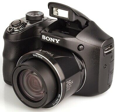 Sony Cyber-shot DSC-H200 20.1MP Digital Camera - Black
