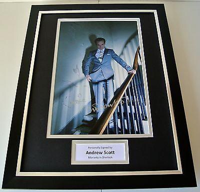 Andrew Scott SIGNED FRAMED Photo Autograph 16x12 display Sherlock Moriarty & COA