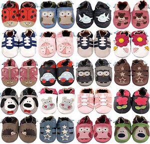 Minifeet-suave-cuero-zapatos-de-bebe-Cochecito-Zapatos-0-6-6-12-12-18-18-24-Mth-amp-2-3-Anos