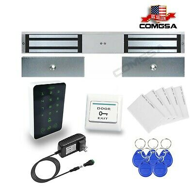 Kit Access Control Magnetic Lock Double 600lbs Maglock For Entry Door Usa