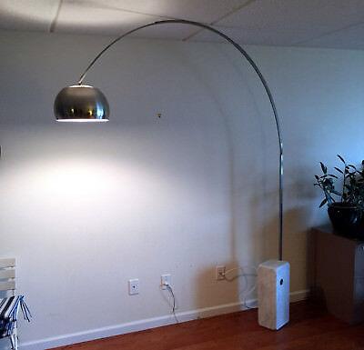 Authentic Original Arco Flos Floor Lamp Mid Century 1960s Genuine Marble Base Base Arco Floor Lamp