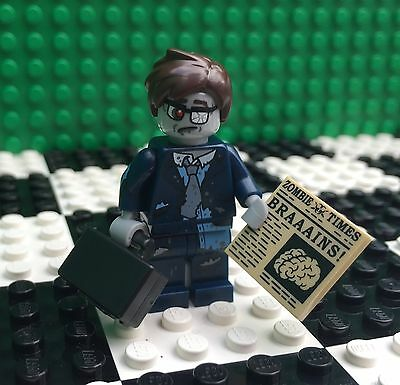 Lego 71010 Monsters Minifigures Series 14 ZOMBIE BUSINESSMAN Halloween Minifig - Halloween Businessman