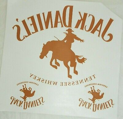 Lot Of 4 Vtg T-shirt Iron On Heat Transfers Jack Daniels Whiskey Deadstock