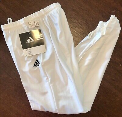 ADIDAS MENS X-SMALL WHITE GK GYMNASTIC COMPETITION STIRRUP PANTS AXS WAS $61.99!
