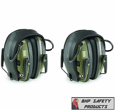 HOWARD LEIGHT R-01526 IMPACT SPORT ELECTRONIC EARMUFF EAR PROTECTION (2 PACK)