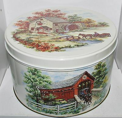 Pennsylvania Dutch Amish GRIST MILL COVERED BRIDGE SCHOOLHOUSE BARN 1983 -