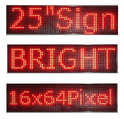 25x 6.5 Led Sign Programmable Scrolling Window Message Display Red Color P10