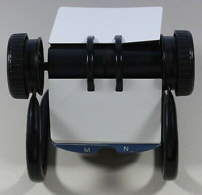 Rolodex Open Rotary Business Card File Black W A-z Index Cards Blank Cards
