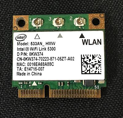 Dell Intel Wifi Link 5300 533AN_HMW Dual Band Wireless N PCIe Half N900 0KW374 for sale  Shipping to India