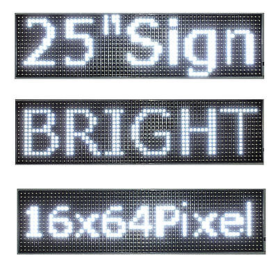 25x 6.5 Led Sign Programmable Scrolling Window Message Display White Color P10