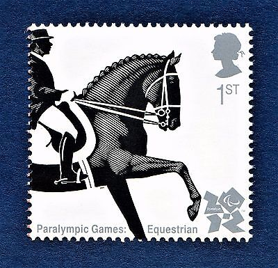 """Paralympic Games - Dressage"" illustrated on 2009 Stamp - U/M"